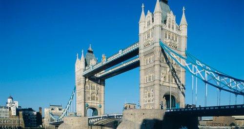 daytime sunshine blue sky tower bridge