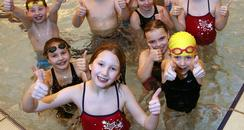 kids enjoying free swims
