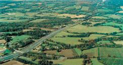 Aerial view of A23 at Warninglid