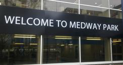 Entrance to Medway Park in Gillingham
