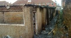 Fire damaged St Andrew's Church Hall