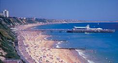 Bournemouth Beach in Summertime