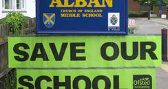 Alban Middle School Sign