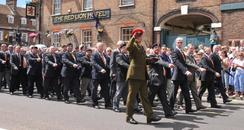 Dorset Troops on Parade