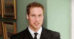 Prince William in his Royal Navy uniform.