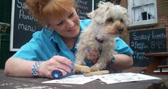 Julie Bain and her dog Jazz