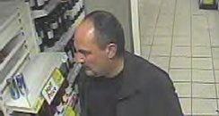 CCTV image after Tesco theft