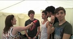 The Wanted backstage at Chester Rocks