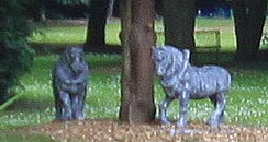 Ornamental horses stolen
