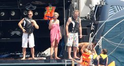 Jason Donovan and Gary Barlow on holiday