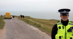 Police At Culver Down Cliffs