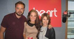 Tulisa Contostavlos with Jamie and Harriet