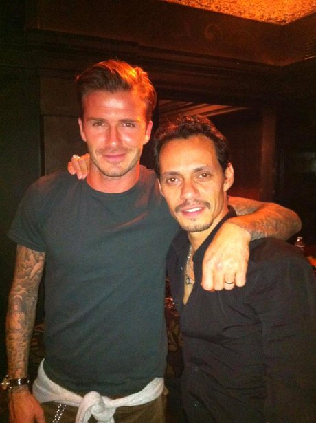 David Beckham with Marc Anthony