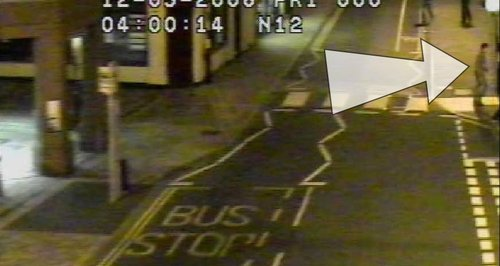 CCTV still from outside the bus station in Ipswich