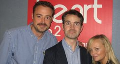 Jimmy Carr with Jamie and Emma