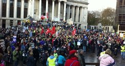 Pensions protest in Portsmouth