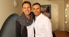 Jason Donovan and Gary Barlow backstage