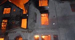 4-storey building destroyed overnight