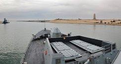 HMS Daring in Suez Canal