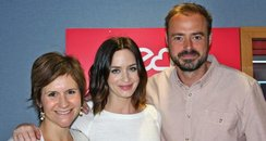 Emily Blunt with Jamie and Harriet