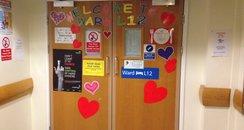 Leeds Children's heart Unit doors