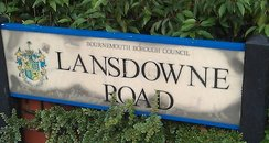 Lansdowne Road sign