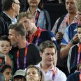 David Beckham and Romeo at the Olympic Games