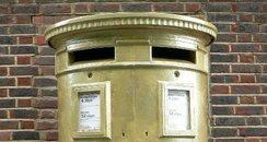 Laura Trott Gold Postbox Harlow