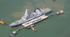 New jetty at Portsmouth Naval Base