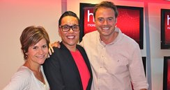 Gok Wan with Jamie and Harriet