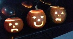 JK & Lucy with Aussie Nige in pumpkin form - can y