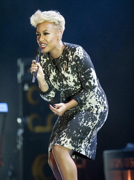 Emeli Sande performs live on stage