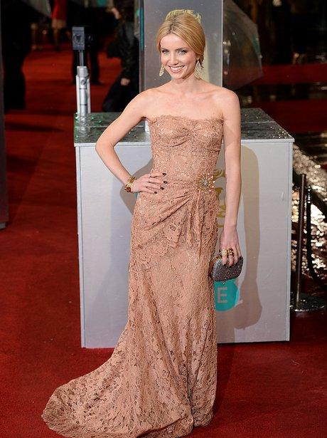 Annabelle Wallis in Nude Lace - BAFTA Awards 2013 - Best