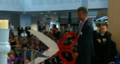Hugh Dennis Cutting Ribbon