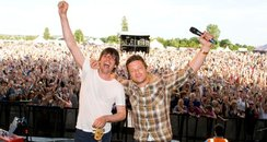 Alex James & Jamie Oliver at the Big Feastival