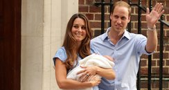 Prince William and Kate with baby boy