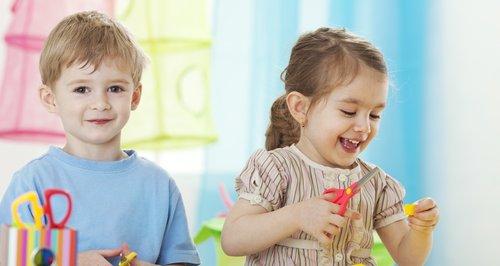 Children enjoying crafts