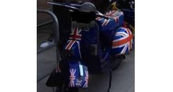 Stolen Union Flag scooter