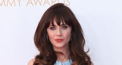 Zooey Deschanel attends the 2013 Emmys