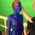 Image 3: Jennifer Lawrence painted blue on the set of X Men