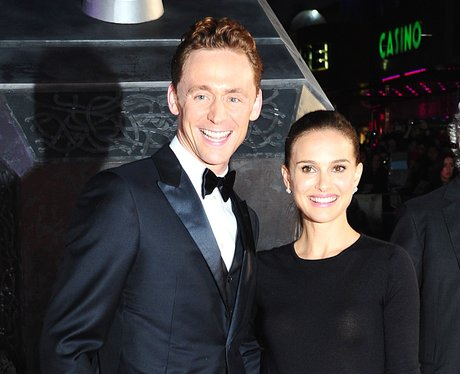 Tom Hiddletson and Natalie Portman on the red carpet