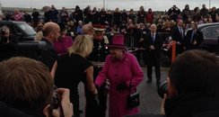 Queen Arrives in Newhaven