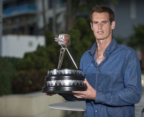 Andy Murray accepting an awards for Sports Personality of the Year 2013