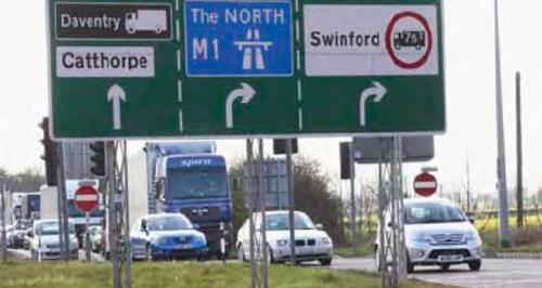 Traffic At Catthorpe