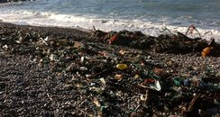 Storms leave litter on Dorset's Beaches