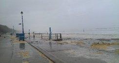 stormy Bournemouth beach