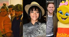 David Beckham Olly Murs and Rihanna