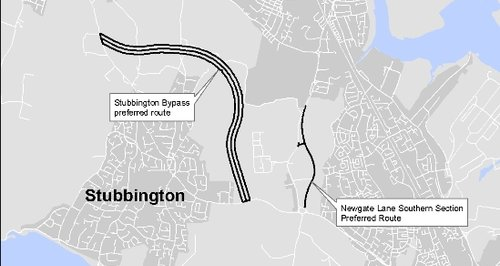 Stubbington Bypass preffered route