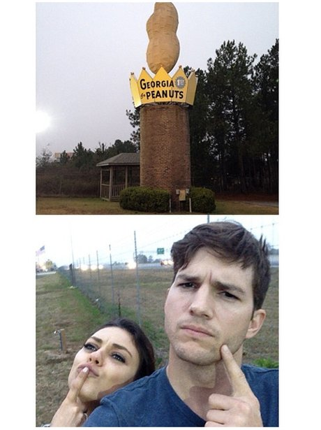 Mila and Ashton at a peanut factory