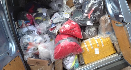 Van load of fake designer goods